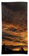 Burning Sky Beach Towel
