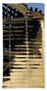 Burnt  Beach Towel