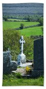 Burren Crosses County Clare Ireland Beach Towel