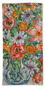 Burst Of Flowers Beach Towel
