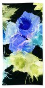 Bursting Comets 2017 - Blue And Green On Black Beach Towel