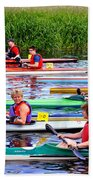 Burton Canoe Race At The Start Beach Towel