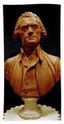 Bust Of Thomas Jefferson  Beach Towel