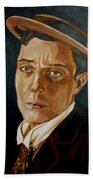 Buster Keaton Tribute Beach Towel