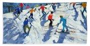 Busy Ski Slope Beach Sheet