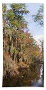 Butler Creek In Autumn Colors Beach Towel