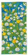 Buttercups And Daisies Beach Towel