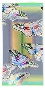 Butterflies In The Vortex Beach Towel