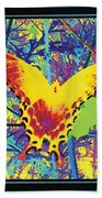 Butterfly All Aglow Beach Towel
