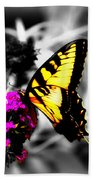 Butterfly And Lilac Beach Sheet