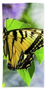 Butterfly And Lilacs Beach Towel