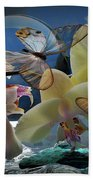 Butterfly And Orhid Beach Towel