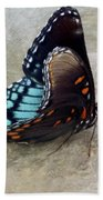 Butterfly Blue On Groovy 2 Beach Towel