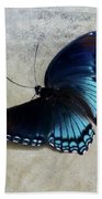 Butterfly Blue On Groovy Beach Towel