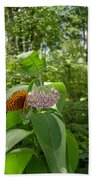 Butterfly Flower Beach Towel