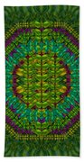 Butterfly Flower Jungle And Full Of Leaves Everywhere  Beach Towel