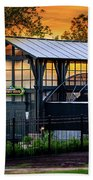 Butterfly House At Sunset Beach Towel