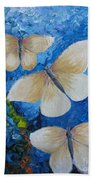 Butterfly In Blue 4 Beach Towel