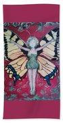 Butterfly Lady Beach Towel
