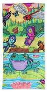 Butterfly Lake Beach Towel