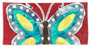 Butterfly Liberty Beach Towel
