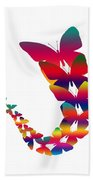 Butterfly Migration Beach Towel
