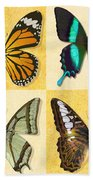 Four Butterfly Montage Beach Towel