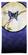 Butterfly Moon Beach Towel
