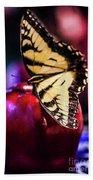 Butterfly On Apple Beach Towel