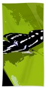 Butterfly On Green Beach Towel