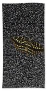 Butterfly On Stone Beach Towel
