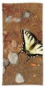 Butterfly On The Beach Beach Towel