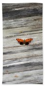 Butterfly On The Dock Beach Towel