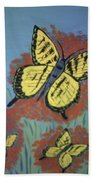 Butterfly Picnic Beach Towel