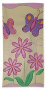Butterfly Smiles Beach Towel