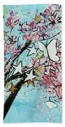 Butterfly Star Magnolia Soulangeana 201825 Beach Sheet