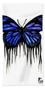 Butterfly Tears Beach Towel