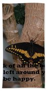 Butterfly Thing Of Beauty Beach Towel