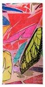Butterfly Wing Beach Towel