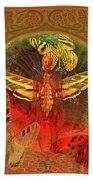 Butterflyman Solarlife Beach Towel by Joseph Mosley
