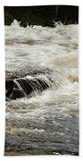 Buttermilk Falls Froth Beach Towel