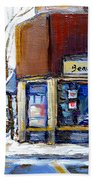 Buy Original Montreal Paintings Beauty's Winter Scenes For Sale Achetez Petits Formats Tableaux  Beach Towel
