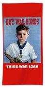 Buy War Bonds -- Third War Loan Beach Towel