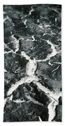 Bw Crackle Beach Towel