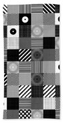 Bw Pop Pattern Beach Towel
