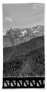 Bw Rail Alaska  Beach Towel