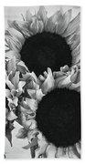 Bw Sunflowers #010 Beach Towel