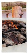 By The Fire Beach Towel