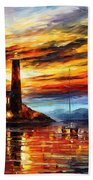 By The Lighthouse Beach Towel