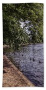 By The River Ouse Beach Towel